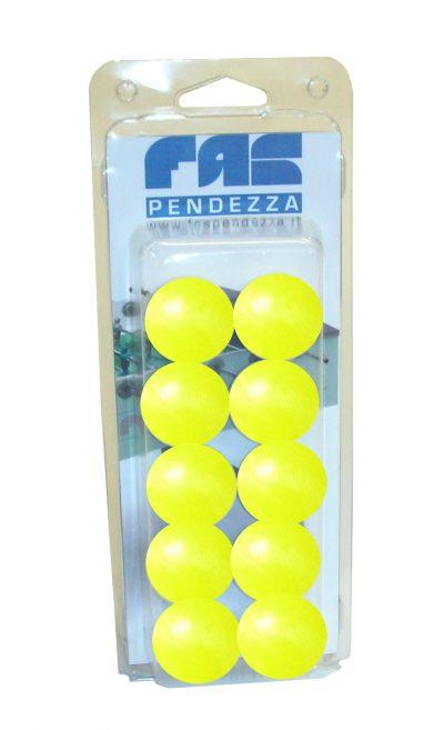 palline calcio balilla gialle blister